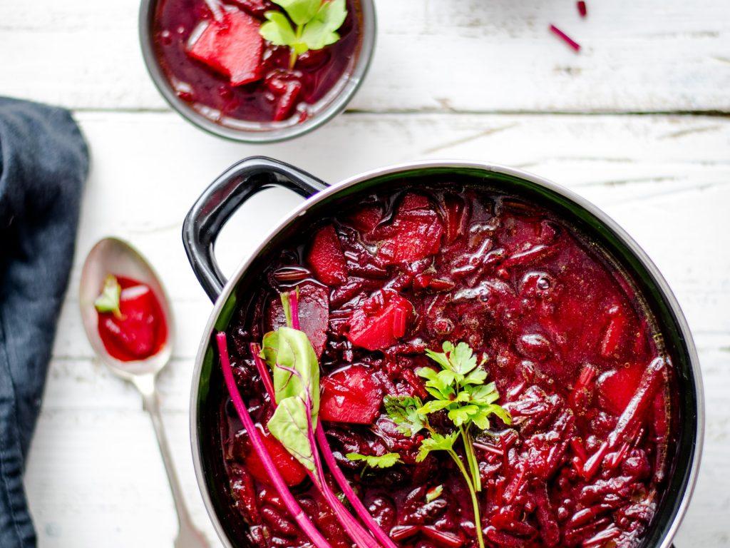 Bortsch, rote Bete Suppe