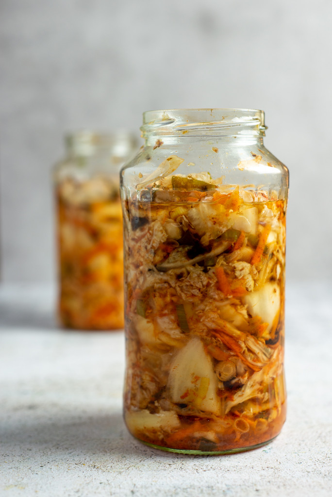 Kimchi mit Chinakohl und verschieden Zutaten