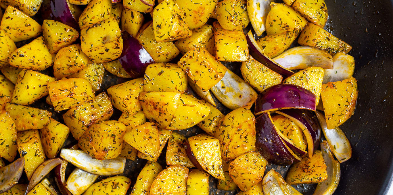 Kräuterkartoffeln aus der Pfanne