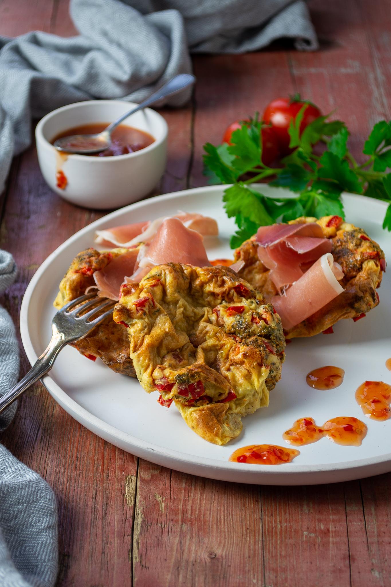Mini-Frittata aus den Ofen