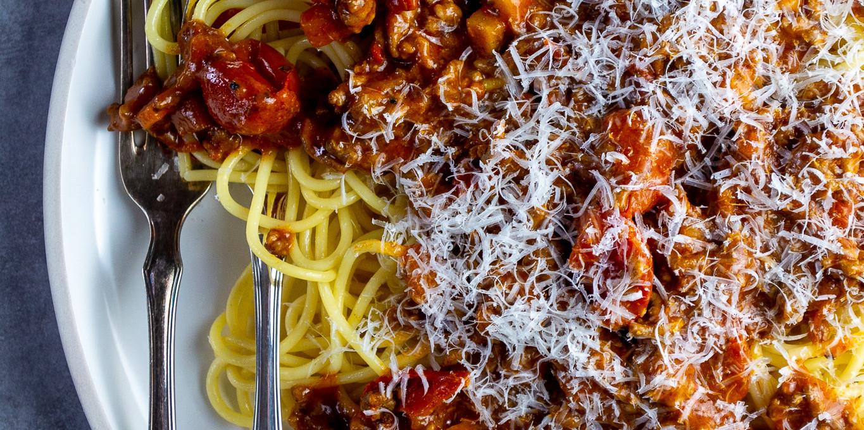 Bolognese mit Kirschtomaten
