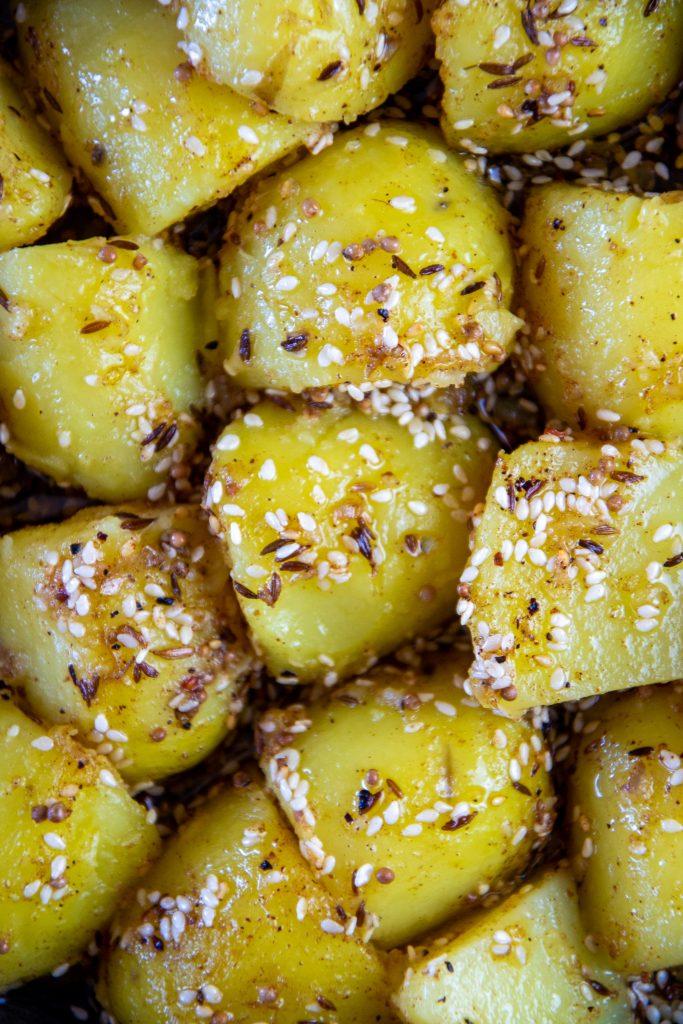 Kartoffeln mit Sesam